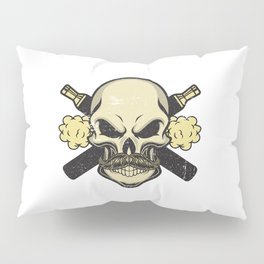 Cloud Chaser - Vaping Skull Pillow Sham
