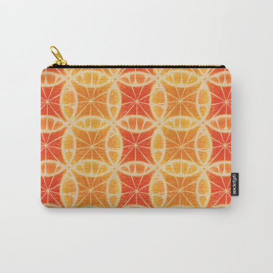 Orange Slice Pattern Carry-All Pouch