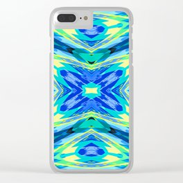 Seamless Kaleidoscope Colorful Pattern CI Clear iPhone Case