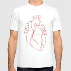 Anatomical heart MEDIUM Mens Fitted Tee White