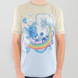 rainbow All Over Graphic Tee
