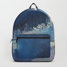 Moonlit cabin Backpack