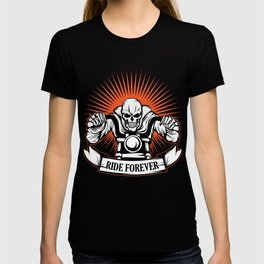 A Unique Detailed Riding Skeletal Tee For Yourself? Here's An Awesome T-shirt For You Ride Forever T-shirt