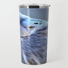 Young Flamingo Feathers by Reay of Light Travel Mug