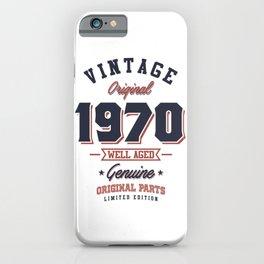Vintage 1970 Born in 1970 Retro Birthday Gift iPhone Case