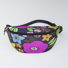 Night with flowers Fanny Pack