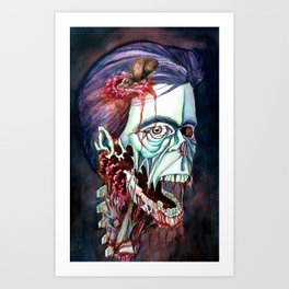 Portrait of the KING Art Print