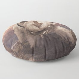 Appa in the Mountains Floor Pillow