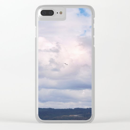 Pastel vibes 41 - El vuelo Clear iPhone Case