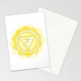 Manipura chakra watercolor painting Stationery Cards