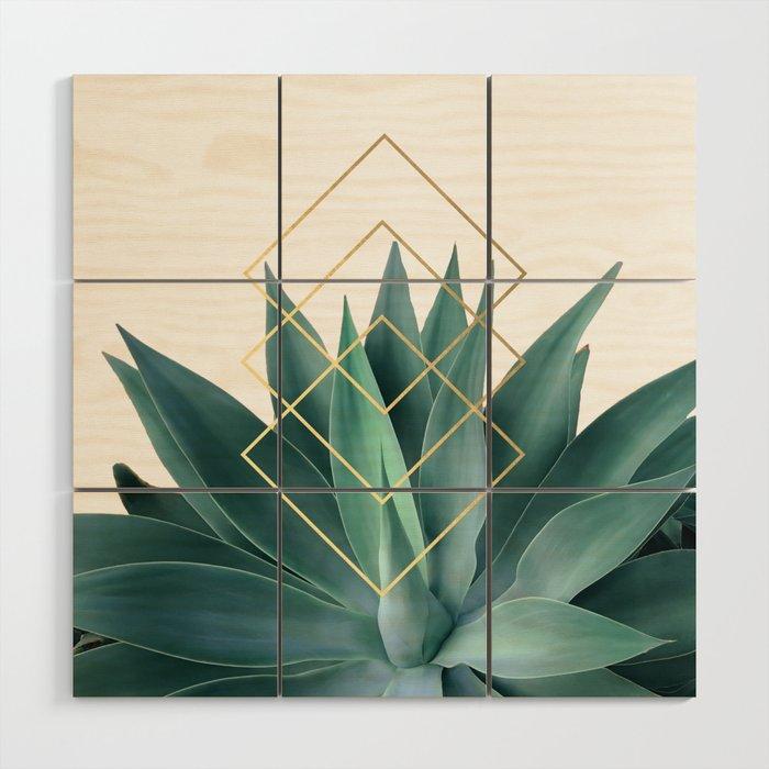 Agave geometrics Wood Wall Art