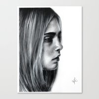cara Canvas Prints featuring Cara by Siney