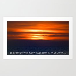 the setting of the sun. Art Print