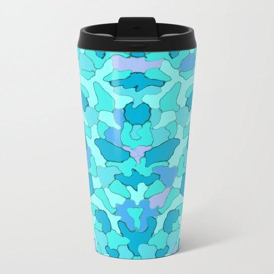 Camo Aqua Metal Travel Mug