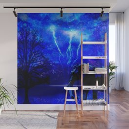 ELEPHANT LIGHTNING AND AFRICAN NIGHTS Wall Mural
