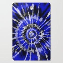Dark Blue Tie Dye Cutting Board