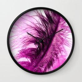 Hot Pink Plumes Wall Clock