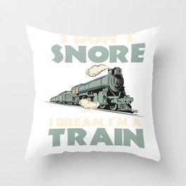 Locomotive Model Train Conductor Railway Railroad Throw Pillow