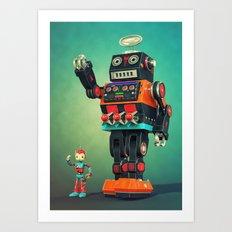 Giant Robot Art Print