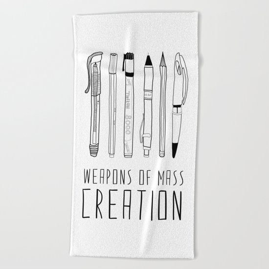 weapons of mass creation Beach Towel