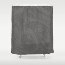 Pantone Pewter Gray Abstract Fluid Art Swirl Pattern Shower Curtain