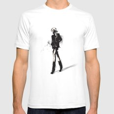 Fringe - Fashion Illustration White Mens Fitted Tee SMALL