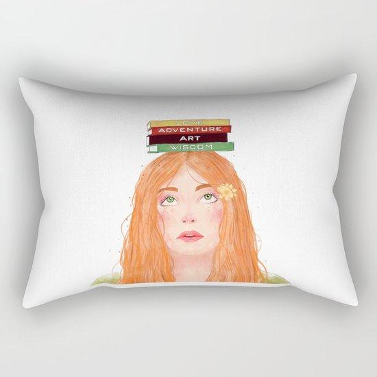 Book girl 02 Rectangular Pillow