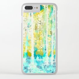 Sherwood Pines Abstract Art Clear iPhone Case