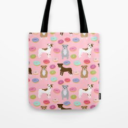 Pitbull dog breed donuts doughnut dog art pibble dog lover rescue pupper Tote Bag