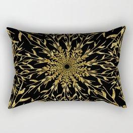 Black Gold Glam Nature Rectangular Pillow