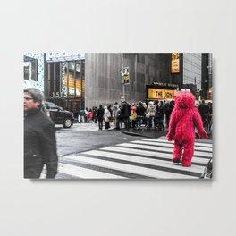 Black and colour New York City ArtWork Street Metal Print