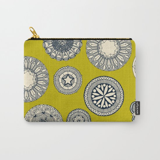 mandala cirque spot chartreuse Carry-All Pouch