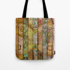 Around the World in Thirteen Maps Tote Bag