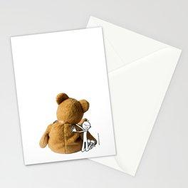 DIDI hugs his teddy bear Stationery Cards
