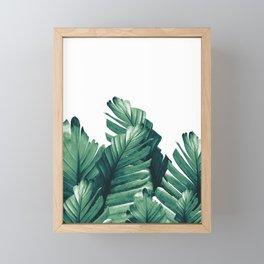 Green Banana Leaves Dream #1 #tropical #decor #art #society6 Framed Mini Art Print