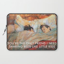 Sharing Beds Laptop Sleeve