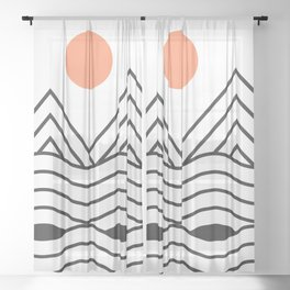 Sunset Minimalist Sheer Curtain