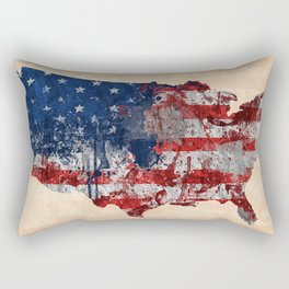 map USA  Rectangular Pillow