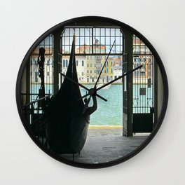 Gondola on Giudecca Island, Grand Canal, Venice Wall Clock