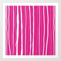 Vertical Living Hot Pink Art Print
