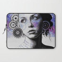 Ayil | vintage lady portrait | mandala doodles sketch) Laptop Sleeve