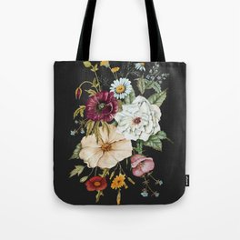 Colorful Wildflower Bouquet on Charcoal Black Umhängetasche