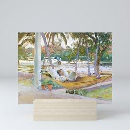 Figure in Hammock, Florida by John Singer Sargent Mini Art Print