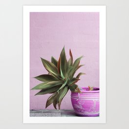 Hot Mess Cactus Art Print