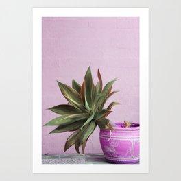 Hot Mess Cactus Art Print