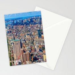 New York City USA megalopolis Marinas Cities Building Megapolis Pier Berth Houses Stationery Cards