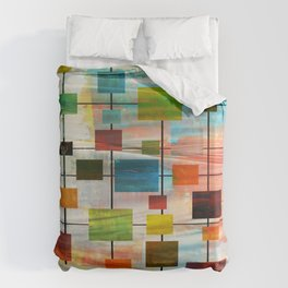 Mid-Century Modern Art 1.3 -  Graffiti Style Bettbezug