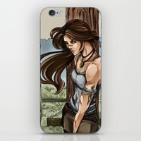 lara croft iPhone & iPod Skins featuring Lara Croft Japan by memo_alatouly