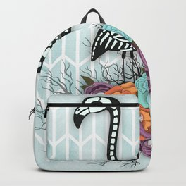Flamingo Skeleton Halloween Composition Backpack