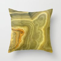 white marble Throw Pillows featuring Marble by Patterns and Textures